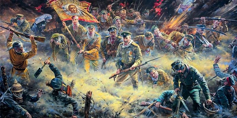 «Лицо России… в молчаливом и смиренном героизме русского солдата…»